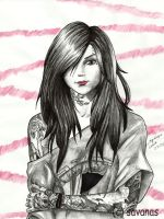 Kat Von D - B and W by SavanasArt