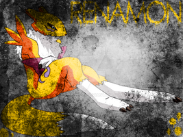 Grunge Renamon by RedSoul77