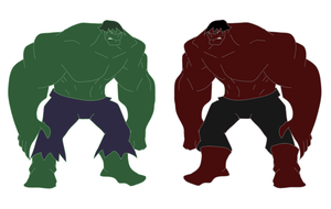 Hulk vs Rulk by SuprVillain