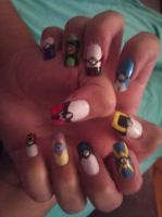 pokemon nails by amanda04