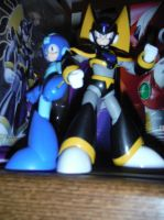 Rockman and Forte... and some boxes by Reploid-Man