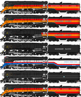 Southern Pacific Class GS-4 by omega-steam