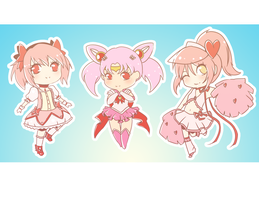 Some Magical Girls by Yeti-Echoer
