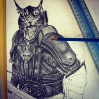 Skyrim characters - commission WIP 3 by carlolanni