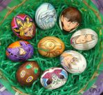 Yu-gi-oh Eggs by Red-Flare