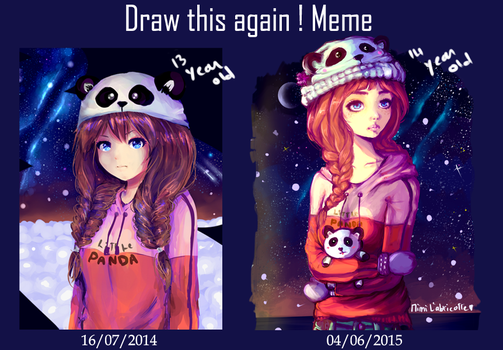 Draw This Again Meme 'Panda girl' by mimiXartiste