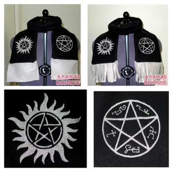 Supernatural Inspired Devil's Trap Scarf by AKawaiiBoutique
