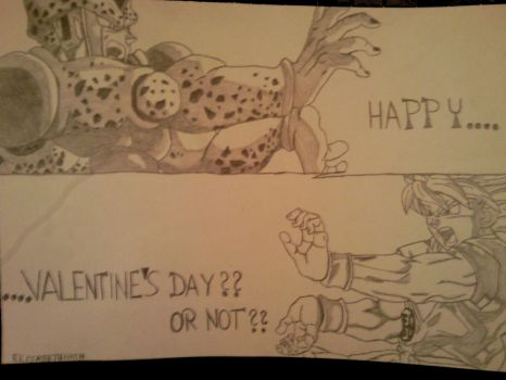Happy Valentine's Day or not by elizabethiron