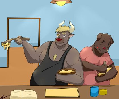 (COMMISION) Cooking Time! by Rikuoxas