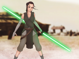 Rey - Star Wars The Force Awakens by StanEKB