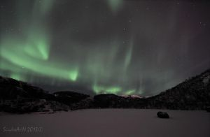 Northern Lights above Vollvatnet First of 2013 ! by SindreAHN