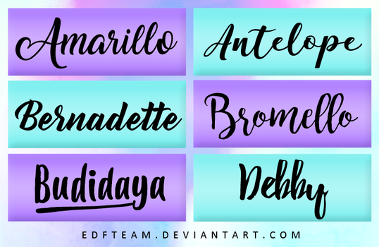 +Pack Fonts #5 by EDFTeam