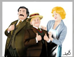 Philosopher's Stone - Dursley Family by Cherry-nichan