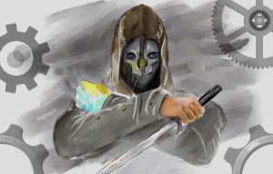 DISHONORED  Corvo Attano - fanart by vladioglas
