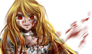 speedpaint: Bloody Grin by rinfiora
