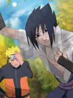 He trick me :Sasuke and Naruto: by Samr0iD