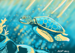 Endangered Species - Green Turtle by Smiley1starrs