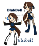 Blubell and Blakbell by Natsumi-chan0wolf