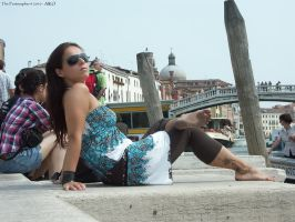 Aiko: barefoot relax by the Grand Canal of Venice by Feetosopher