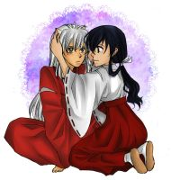 Request: Kagome and Inuyasha by nayght-tsuki