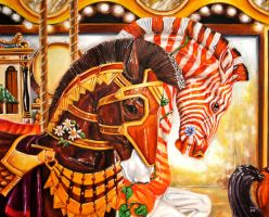 Sir Adrian and Quigga (Albany Brass Ring Carousel) by veracauwenberghs