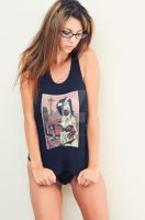 zombie tramp shirt by LillyLeeModel