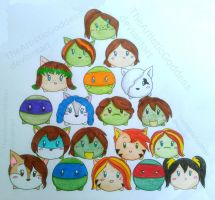 Tsum Tsum TMNT by TheArtisticGoddess