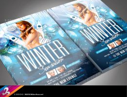 Winter Party Flyer Template by AnotherBcreation