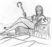 Giantess Sketch - Egyptian Goddess by Colonel-Gabbo