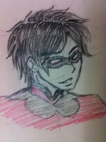Nightwing random sketch by irenerei