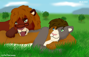 Keddy and Kalla by M-WingedLioness