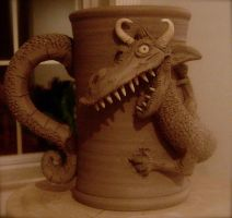 Dragon Mug-WIP by thebigduluth