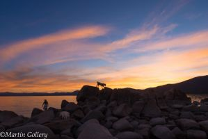 East Shore sunset140630-51 by MartinGollery