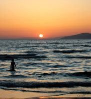 Sunset At Aegean Sea by Canankk