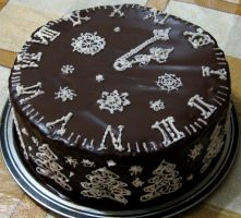 New Year chocolate cake by JSjewelry