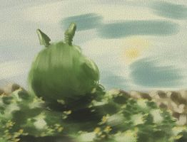 Totoro at Rest by Loo1Cool