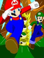 Mario and Luigi - color by WolfTotem1