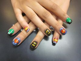 Justice League Full Set by sharpnailart