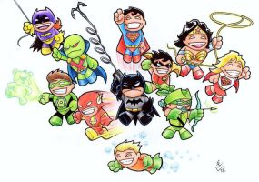 Mini JLA by Hamdoggz