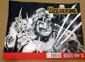 Wolverine Blank Cover by ickhwano
