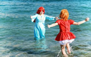 Mommy!! - Ponyo on the Cliff by the Sea by Kharen94th