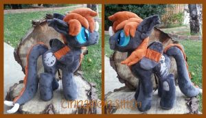 Mlp Plush Commission Ryku Bloodwing by CINNAMON-STITCH