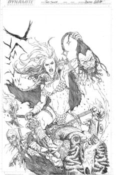 Red Sonja cover 32 by Adrianohq