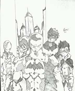 Batman: Bat Family  by Tazartist19