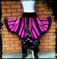 Pink Butterfly Wings Skirt by annaladymoon
