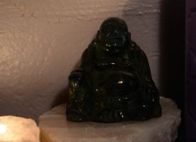 Buddha by candlelight 3 by coffeenoir