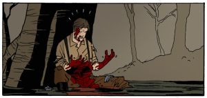Of Man and Monster COLOR panel by mattcrap