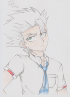 Toushirou Sketch -COLORED- by SilverMoonRose