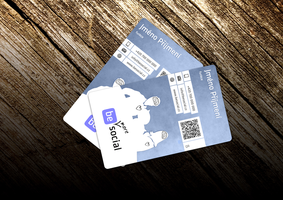 Web Social company Bussiness card by petrsimcik