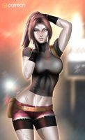 Claire Redfield  - optional NSFW on Patreon by evandromenezes